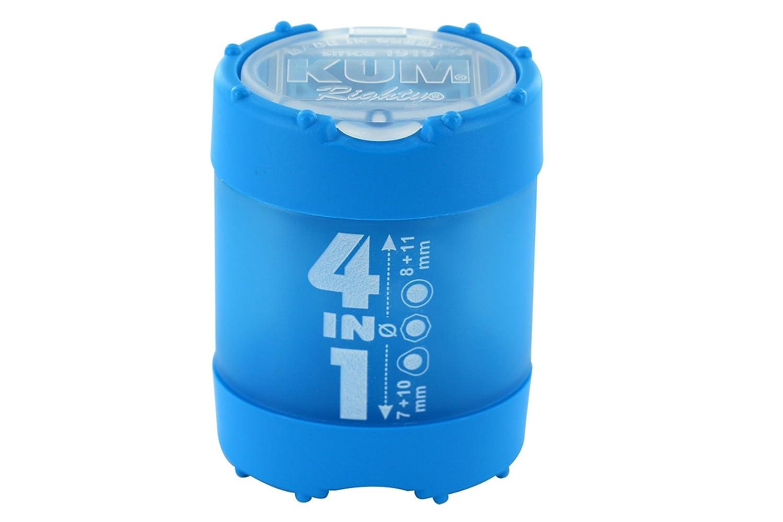 KUM AZ102.83.19-G Behälterspitzer 4in1 K4 G aus Kunststoff, Click Clack Staubverschluss, 1 Stück, grün 1 Stück grün