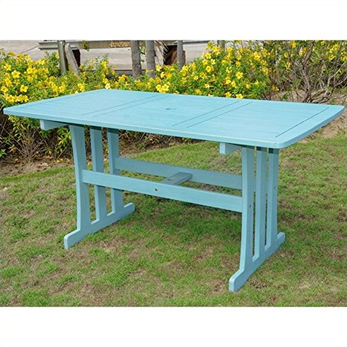 International Caravan TT-RE-07-SKB-IC Furniture Piece Acacia Rectangular Dining Table Review