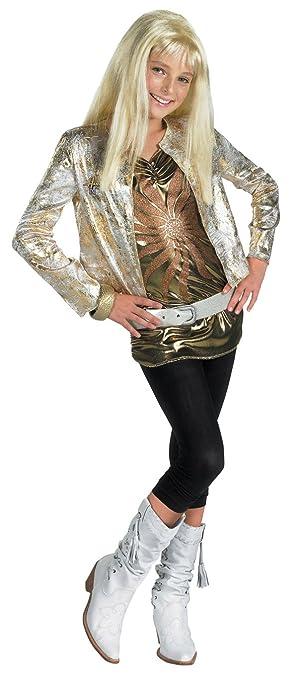 Amazon.com: Hanna Montana Gold Outfit Halloween Costume - Child ...