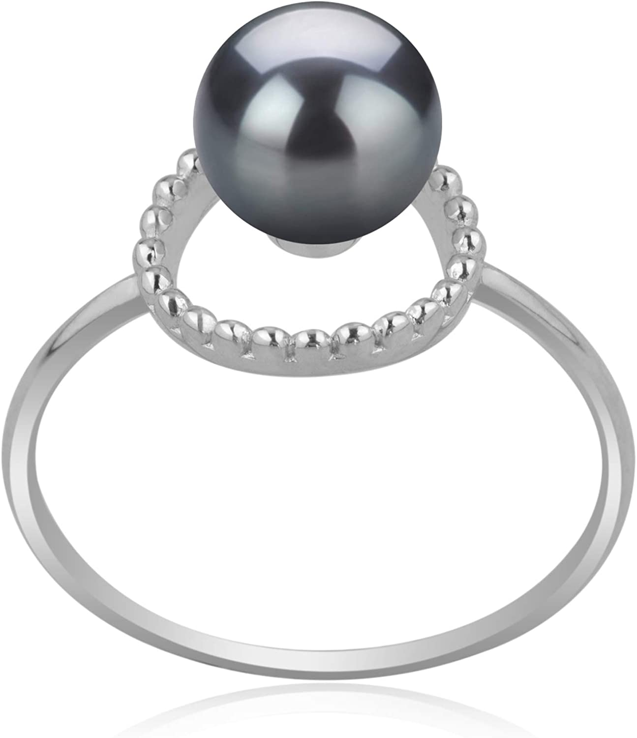 Pearls Sterling Silver 6-7mm White//Grey//Black FW Cultured Set