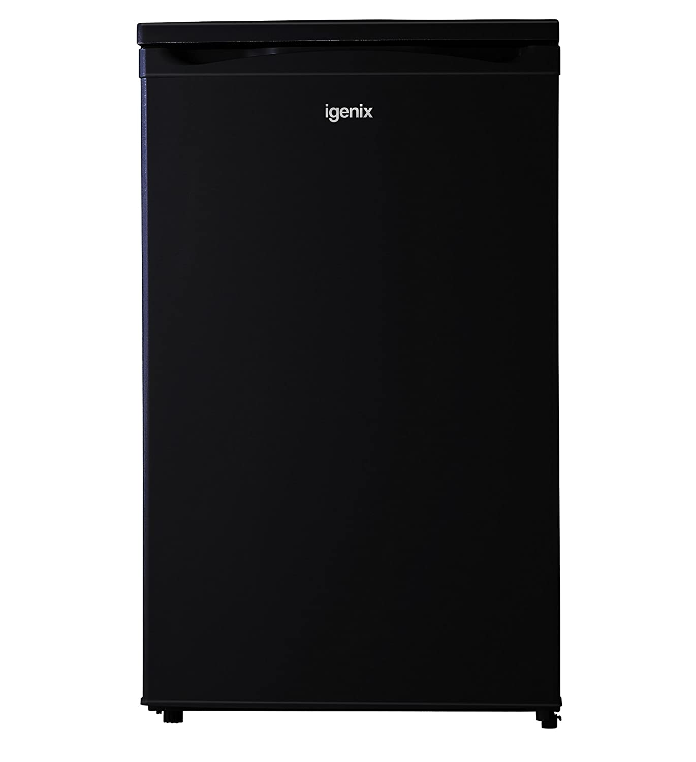 Igenix IG350R Wide Freestanding Under Counter Fridge with Ice Box, 1 Adjustable Glass Shelf and Salad Drawer with Glass Cover, Reversible Door, 100 Litre Capacity, 50 cm, White [Energy Class A+]