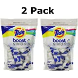 Tide Boost Vivid White + Bright Ultra Concentrated Booster, 28 Count (2 Pack)