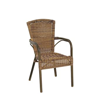 greemotion Chaise de jardin bistrot Laos marron - Chaise de jardin ...