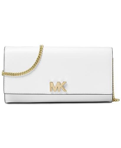 cff88fe35e00 Michael Kors Mott Large Chain Wallet - Optic White: Handbags: Amazon.com