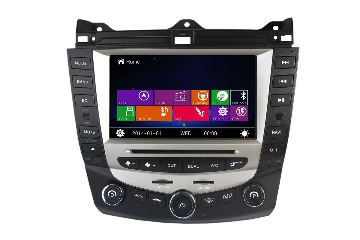 Amazon.com: Honda Accord 2003-2007 Dual Climate Control Indash Car Stereo  Radio Head Unit GPS Navigation DVD Player with Bluetooth/SD/USB/FM/AM ...