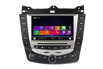 Honda Accord 2003 2007 Dual Climate Control Indash Car Stereo Radio Head  Unit GPS Navigation