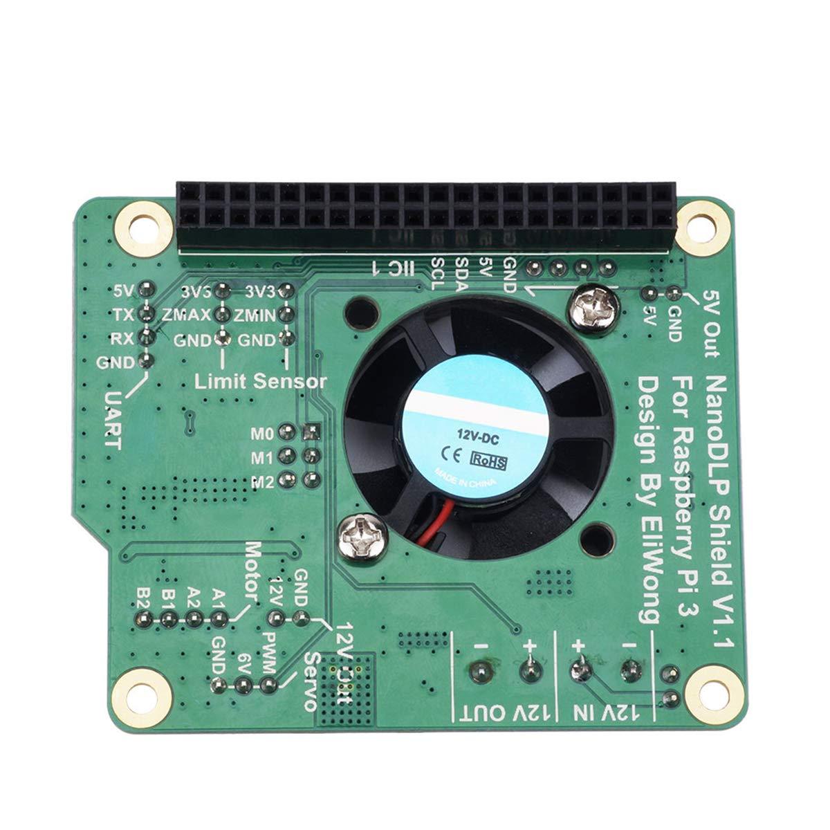 Hemobllo Tarjeta de expansión 9-28V NanoDLP Shield V1.1 para ...