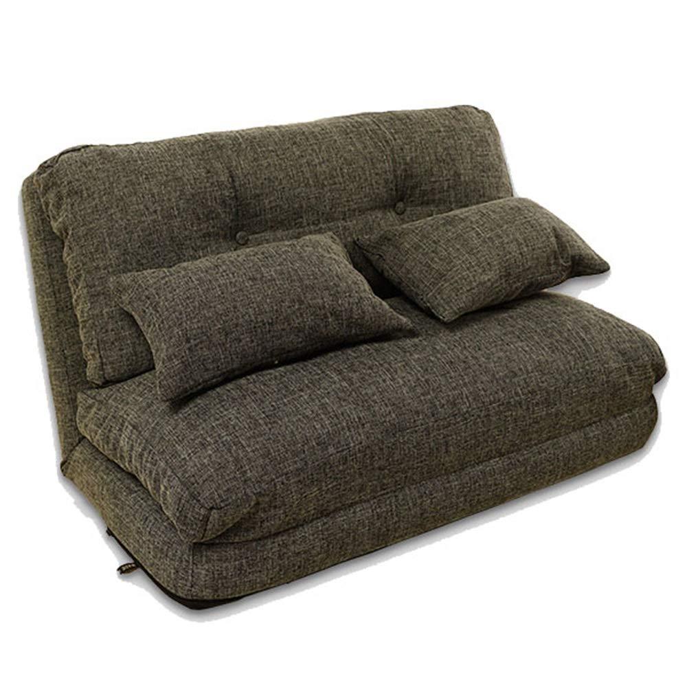 Lazy Sofa Home Luxury Futonベッドフレームゲスト用ソファベッド折りたたみマットレスシングル 便利な多機能ラウンジチェア (色 : グレー, サイズ : 210*100*28CM) 210*100*28CM グレー B07SN26CLB