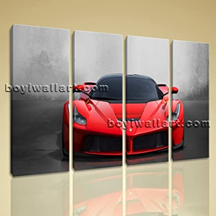 Amazon.com: Large La Ferrari Other On Canvas Wall Art Home Decor ...