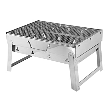 AELN Super BBQ Grill Acero Inoxidable Grill Charcoal Grill ...