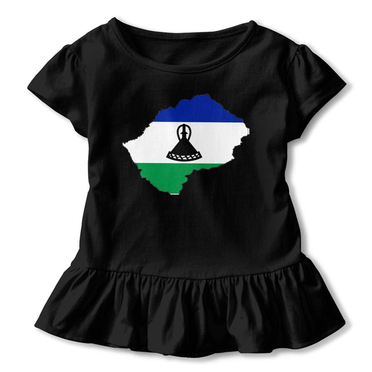 Flag-Map/_of/_Lesotho Novelty T-Shirt Mens Classic Short Sleeve T-Shirts T-Shirt Size:S-6XL