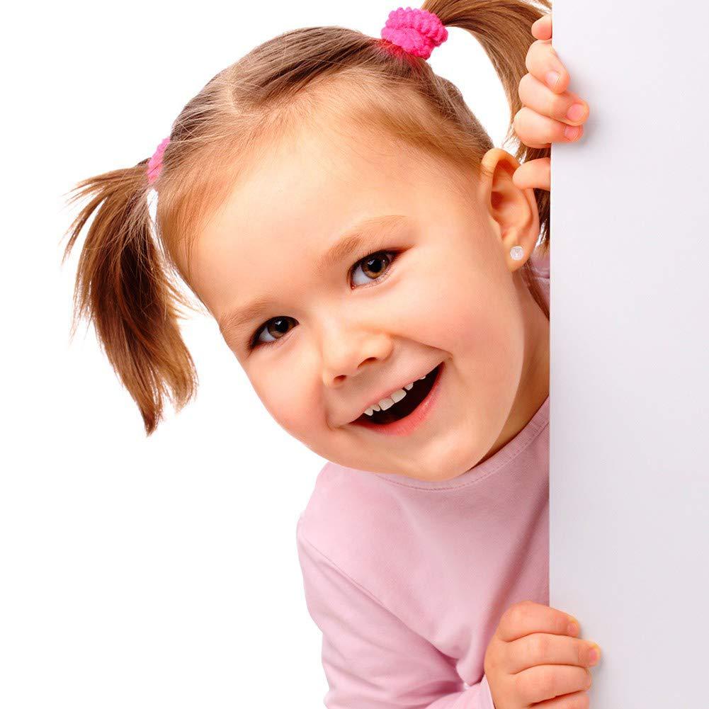 motivo: colore: rosa-Orecchini con perla finta a vite Gioiello Placcato in oro giallo 18 k 4 mm