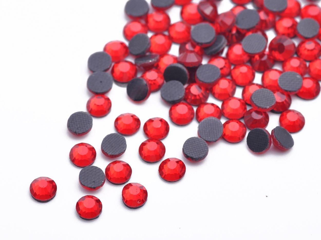 Red SS30-6MM-16Facets-100pcs SS10 SS16 SS20 SS30 SS40 Hotfix Rhinestones Iron-on Flatback Crystal Glass DMC