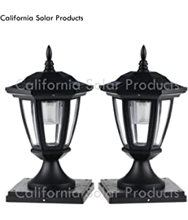 2 pack black solar hexagon post cap lights with white leds for 6x6 2 pack black solar hexagon post cap lights with white leds for 4x4 wood fence aloadofball Images