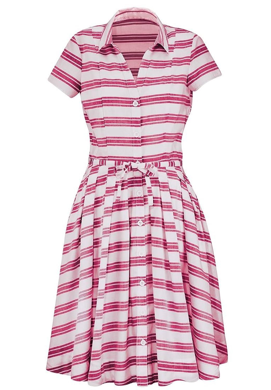 1940s & 1950s Style Shirt Dresses, Shirtwaist Dresses Ellos Womens Plus Size Belted Shirtwaist Dress $39.66 AT vintagedancer.com