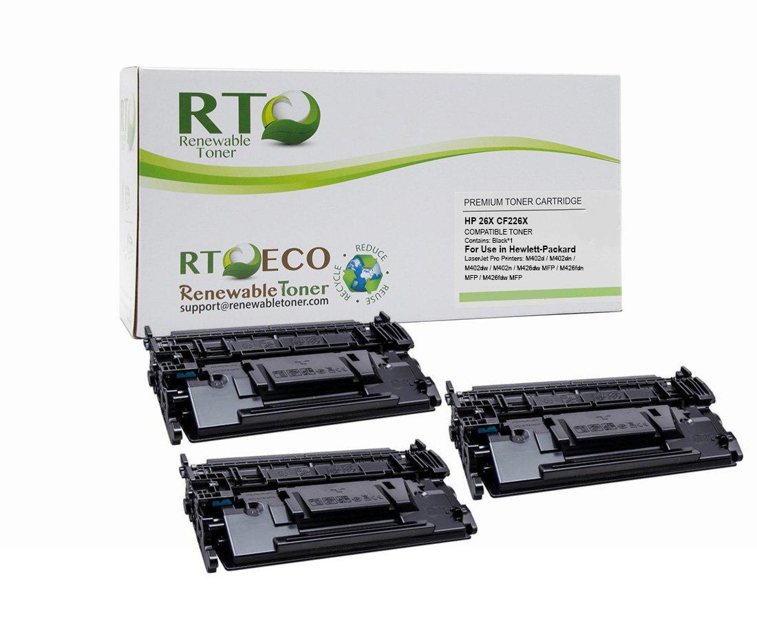 Toner Alternativo ( X3 ) Alta Capacidad Negro 26X CF226X M402