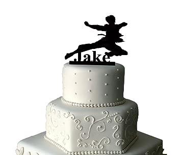Creative Acrylic Kids Karate Acryl Birthday Cake Topper