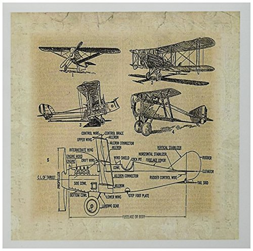 (3dRose Early 1900s Sketch Of Airplanes - Greeting Cards, 6 x 6 inches, set of 12 (gc_62138_2))
