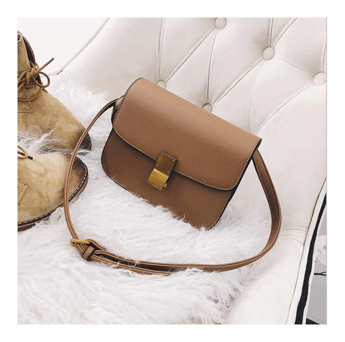 XUZISHAN Meine Damen Tasche Quadrat Tofu Handtasche Pure Farbe Soft Leder Messenger Bag Fashion Simple Lock Crossbody Single Schultertasche B07M9DQLL5 Damenhandtaschen Hervorragender Stil