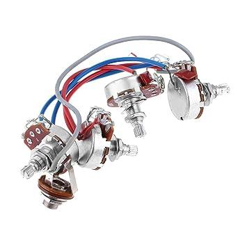 Cable de circuito de montaje con 2 volúmenes + 2 timbre para guitarra eléctrica LP.: Amazon.es: Instrumentos musicales