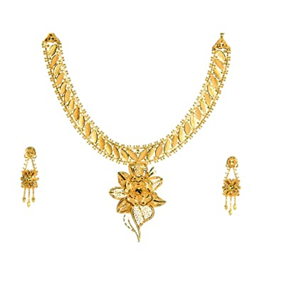 Buy senco alankar pure 24k gold necklace set for all women and girls senco alankar pure 24k gold necklace set for all women and girls aloadofball Choice Image