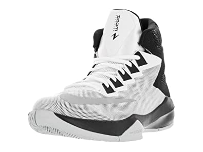 New Nike Men's Zoom Devosion Basketball Shoe White/Black 7