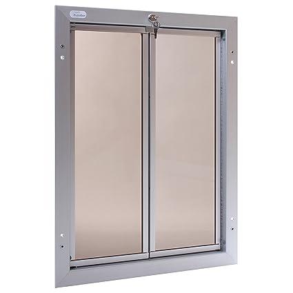 Amazon Plexidor Performance Pet Doors X Large Silver Door