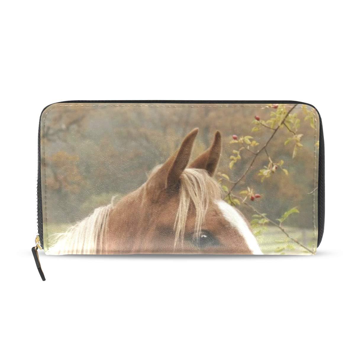 Womens Wallets Fall Horse Leather Passport Wallet Coin Purse Girls Handbags
