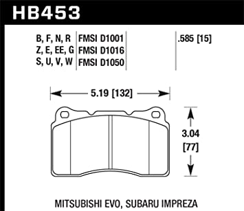 HB180B.560 HPS 5.0 Disc Brake Pads Hawk High Performance Street