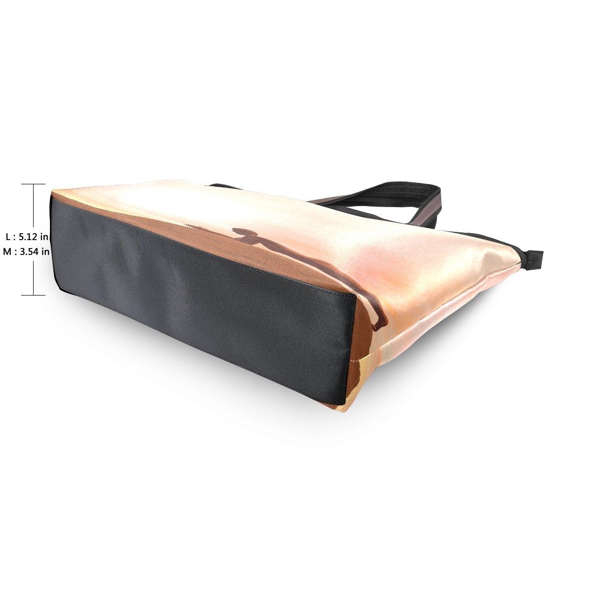 imobaby Dolphin Plank Pose Women Large Tote Shoulder BagsTop Handle Handbag TE202