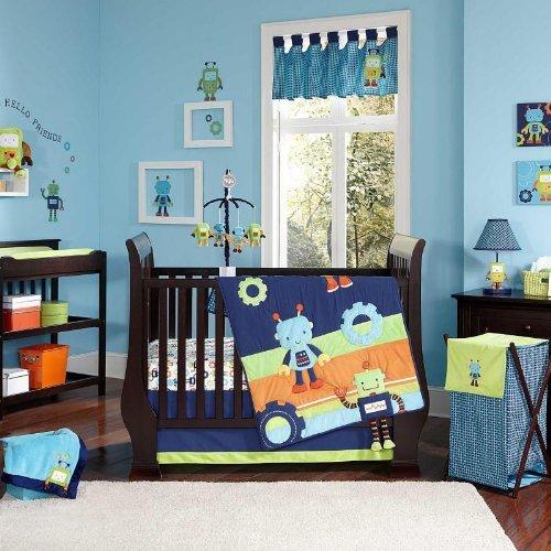 NoJo Baby Bots Crib Bedding Set by NoJo [並行輸入品]   B01BM270RA