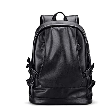 b748919daa Leather Men s With Usb Anti Thief Laptop Backpack Bag School Simple Men  Casual Daypacks Male Bags