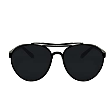 Amazon.com: Vibe LA Classic Aviator Black Framed Sunglasses (black ...