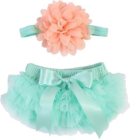 Baby Girl Tutu Bloomers /& Headband in Light Pink Cake Smash Set Newborn Photos Diaper Cover Baby Shower