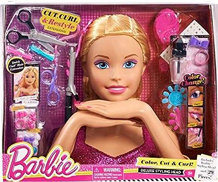 Sensational Amazon Com Barbie Deluxe Styling Head Blonde Toys Amp Games Short Hairstyles Gunalazisus