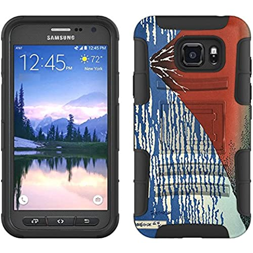 Samsung Galaxy S7 Active Armor Hybrid Case Katsushika Hokusa Red Fuji Southern Wind Clear Morning 2 Piece Case with Holster for Samsung Galaxy S7 Active Sales