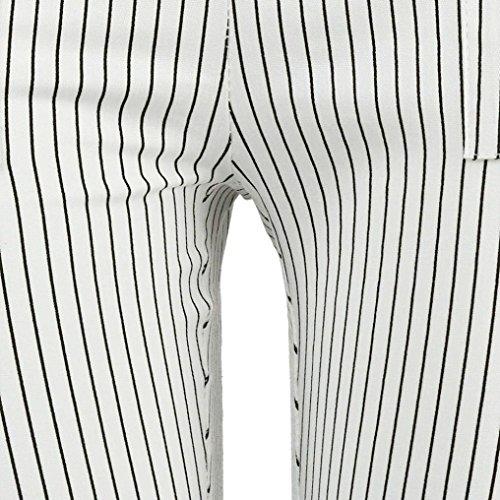 Primaverile Sportivi Chino Waist Tempo Inclusa Autunno Pantalone Con Pantaloni Eleganti Donna Tasche Cintura Leggins Libero Due Bianca Moda Monocromo Giovane Grazioso High Dei EzxqRdwO