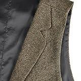 VOBOOM Mens Herringbone Tailored Collar Waistcoat
