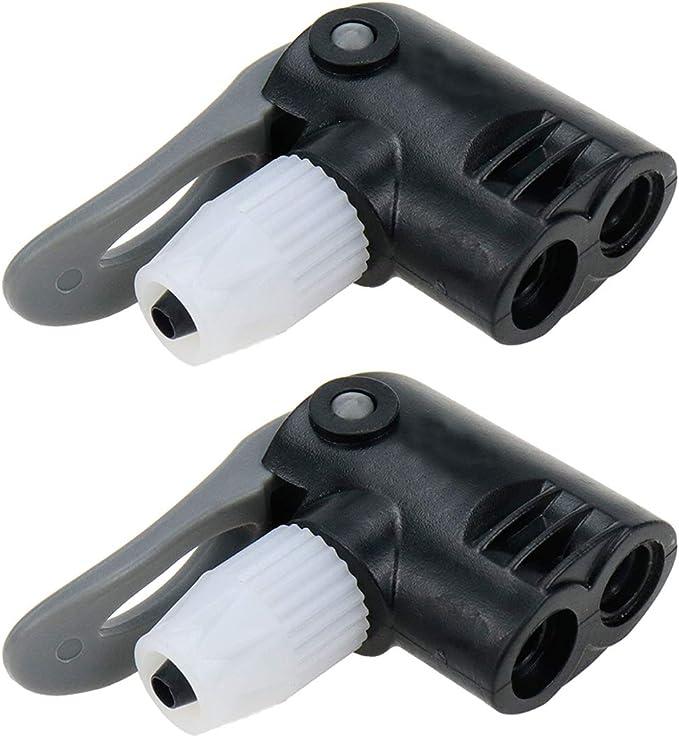 bicycle pump nozzle hose adapter dual head pumping parts service accessor FdP0BE