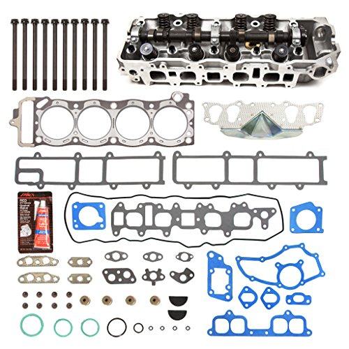 Pickup Cylinder Head Gasket - Evergreen CHHSHB2000 Fits 85-95 Toyota 2.4 SOHC 22R 22RE 22REC Cylinder Head w/Gasket Set Head Bolts