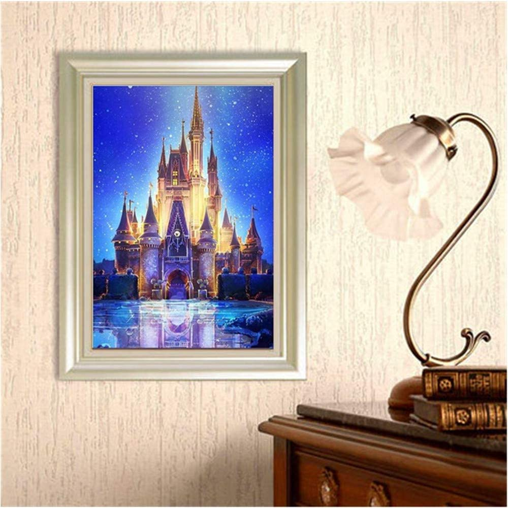 A 30x40cm REYO 1 Cent Item DIY 5D Diamond Painting Castle Fawn Seaside Lighthouse Crystal Rhinestone Embroidery Wall Stickers Pictures Arts Craft for Home Wall Decor