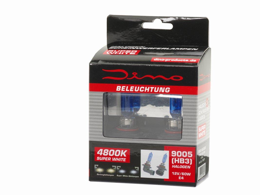 Dino 130072 HB3 Halogenlampen Xenon-Look 60W//12V E13 9005