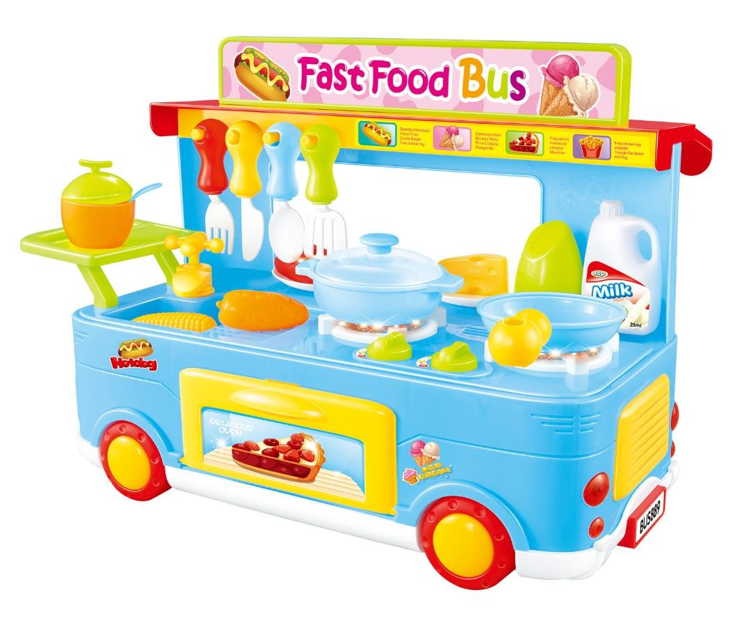 Buy ampersand shops food truck kitchen toy play soft blue 29 pcs for kids 3 and up online at low prices in india amazon in