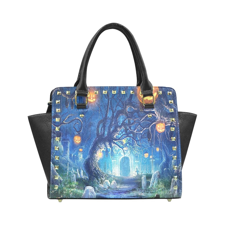 Halloween Rivet PU Leahter Shoulder Handbag For Fashion Women/Girls