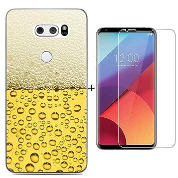 AIOIA para LG V30 Funda con Cristal Templado,TPU Silicon ...