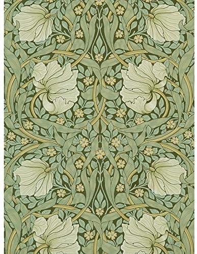 ポスター ウィリアムモリスピンパーネルアーツクラフトパターンデザイン A4サイズ [インテリア 壁紙用] 絵画 アート 壁紙ポスター