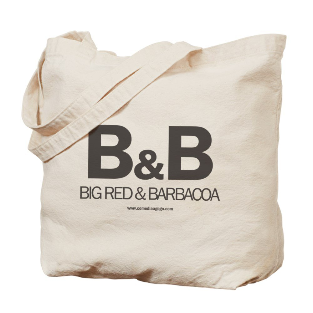 Amazon.com: CafePress - Big Red And Barbacoa White - Natural Canvas Tote Bag, Cloth Shopping Bag: Kitchen & Dining