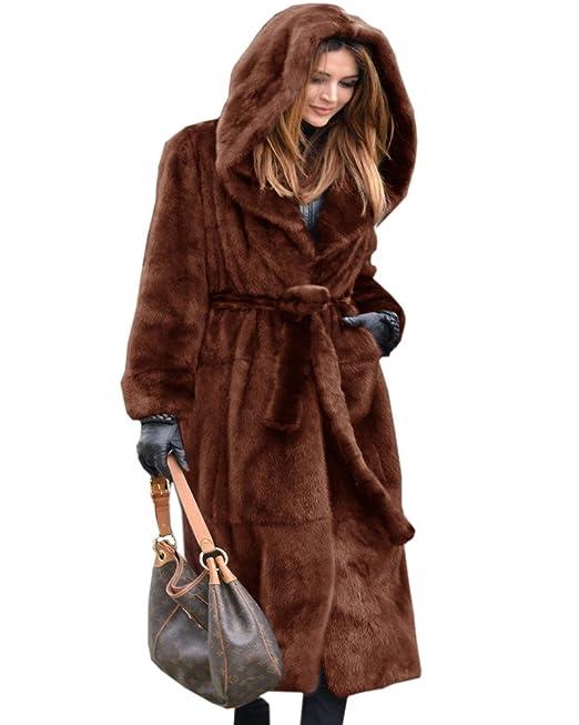 Aofur - Abrigo - Moda - para mujer marrón marrón 42: Amazon.es: Ropa y accesorios
