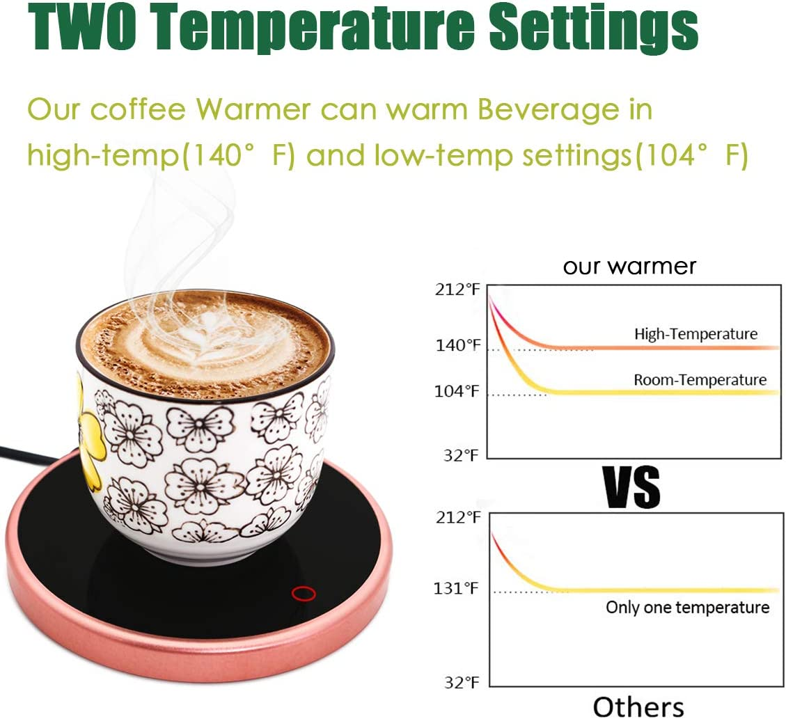 01 Pasamer Tassenw/ärmer Pad elektrische Tassenw/ärmer Pad Desktop Tee Kaffee Milch Becher Heizung Coaster Tray 220-240V