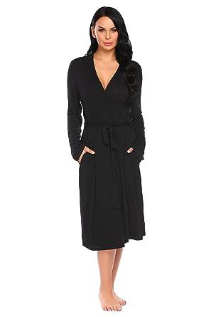 Ekouaer Kimono Robe Women s Warm Bathrobe Lightweight Spa Robes ... 26e903160
